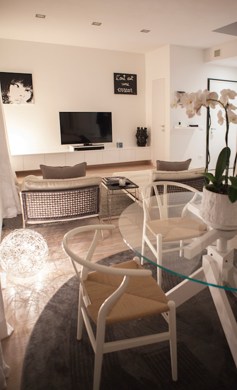 Archidromo - Circuito di Architettura - Minimalist living room White