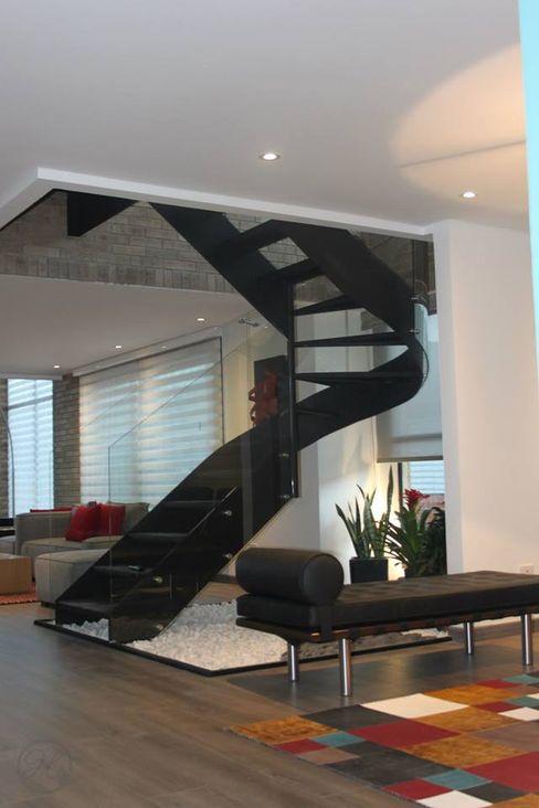 homify 現代風玄關、走廊與階梯