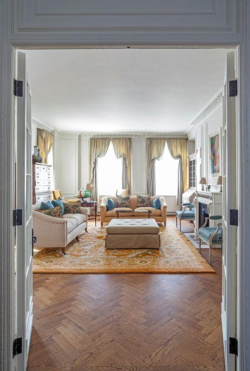 Mansfield Street Apartment, London Nash Baker Architects Ltd Salas de estar clássicas Madeira Branco