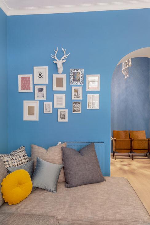 Tania Mariani Architecture & Interiors Salon original Verre Bleu
