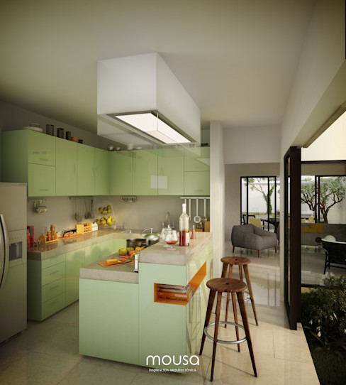 Casa Alor mousa / Inspiración Arquitectónica Cocinas modernas Verde