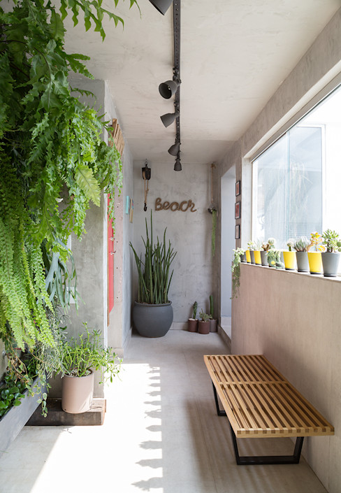 Eliane Mesquita Arquitetura Modern Conservatory Concrete Grey
