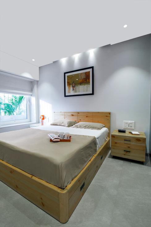 Nitido Interior design RecámarasCamas y cabeceras Madera Acabado en madera