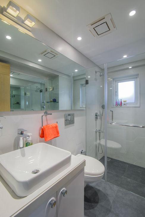 Nitido Interior design BañosBañeras y duchas Azulejos Blanco