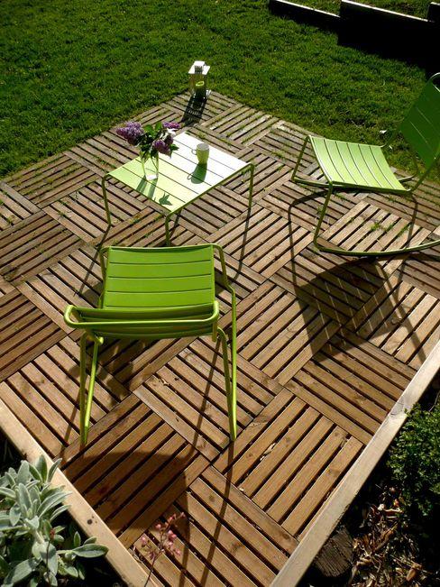 Terrasse caillebotis Constans Paysage Jardin minimaliste