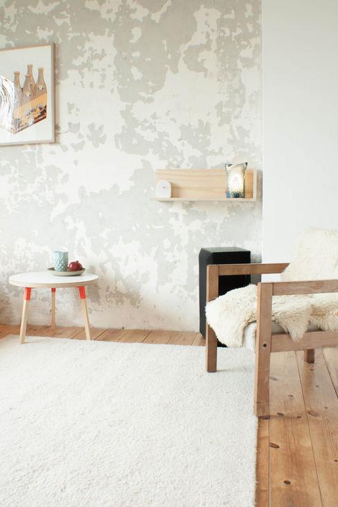 Appartement in Groningen Studio Martijn Westphal Moderne woonkamers Hout
