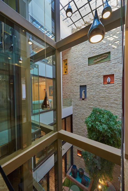 A courtyard house eSpaces Architects Modern windows & doors
