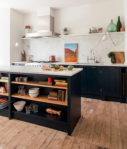W12 Kitchen by British Standard British Standard by Plain English Cuisine rustique Bois Bleu