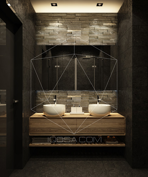 homify Salle de bain industrielle