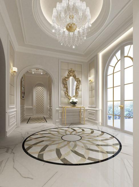 Interior Design & Architecture by IONS DESIGN Dubai,UAE IONS DESIGN Classic corridor, hallway & stairs