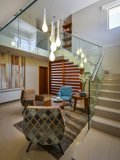 KARLEN + CLEMENTE ARQUITECTOS Salas de estilo moderno Vidrio Beige