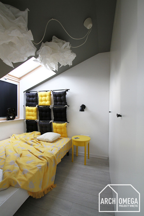 Archomega Quartos minimalistas Amarelo
