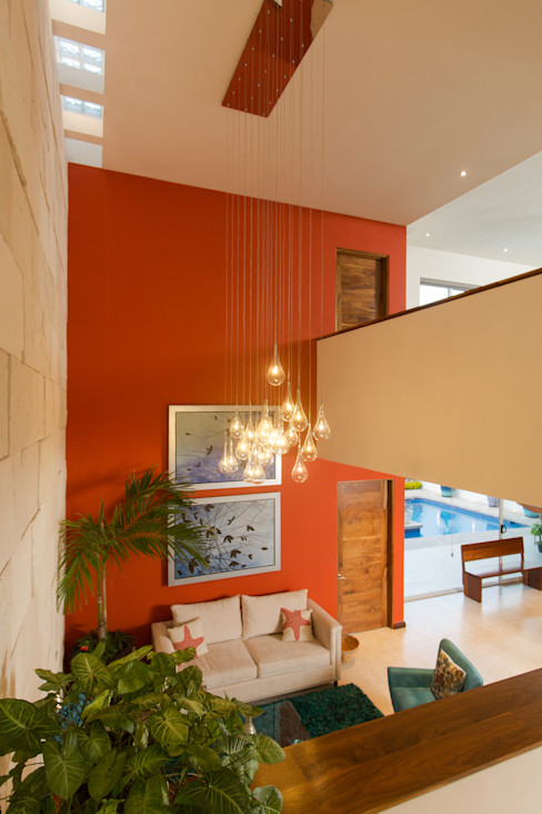 Grupo Arsciniest Ingresso, Corridoio & Scale in stile moderno Cemento Arancio