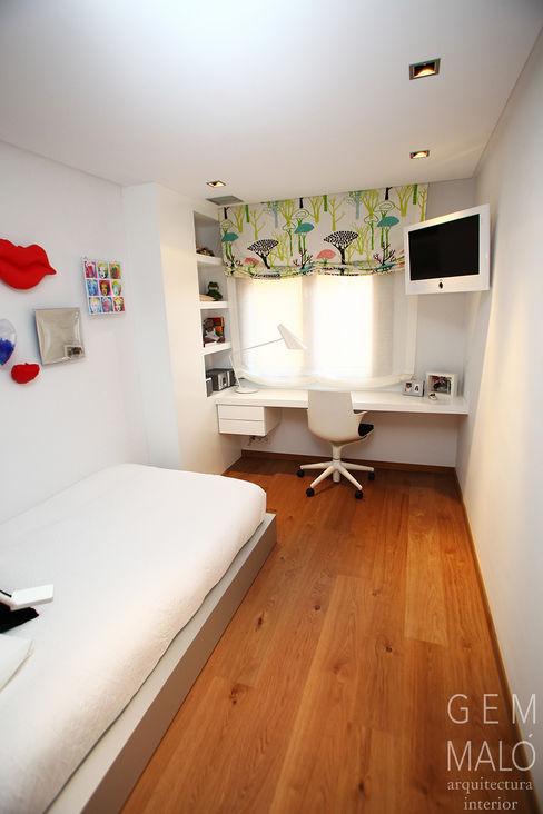 Dormitorio juvenil Gemmalo arquitectura interior Dormitorios infantiles de estilo moderno Tablero DM Blanco