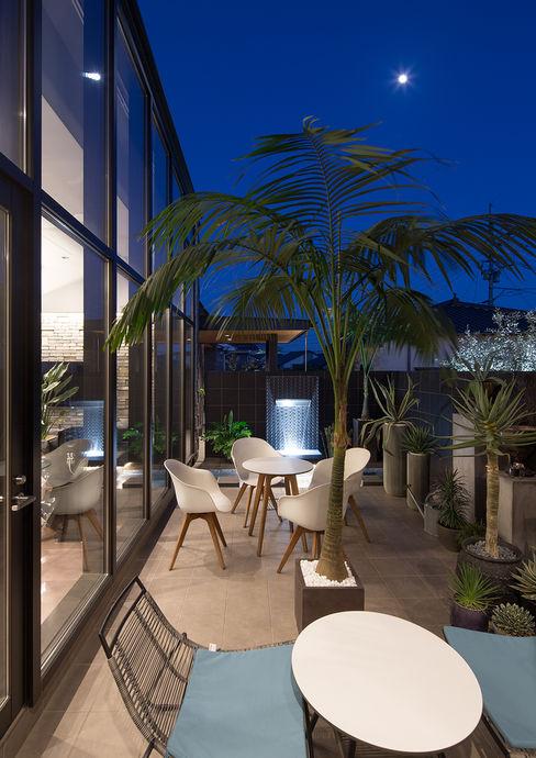 一級建築士事務所 馬場建築設計事務所 Moderner Balkon, Veranda & Terrasse