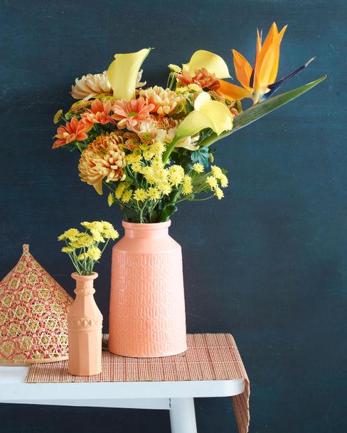 Elegante Kombination mit der Chrysantheme in Orange Tollwasblumenmachen.de WohnzimmerAccessoires und Dekoration