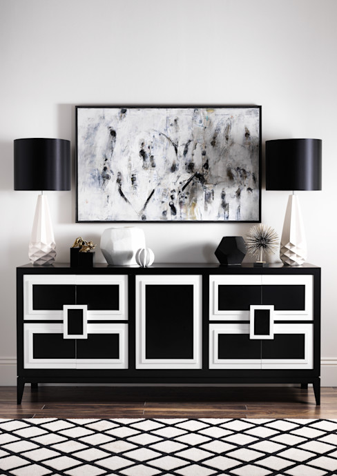 SS16 Style Guide - Refined Monochrome Collection - Hallway LuxDeco Living roomCupboards & sideboards Black