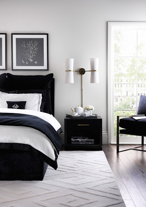 SS16 Style Guide - Refined Monochrome Collection - Bedroom LuxDeco BedroomBeds & headboards