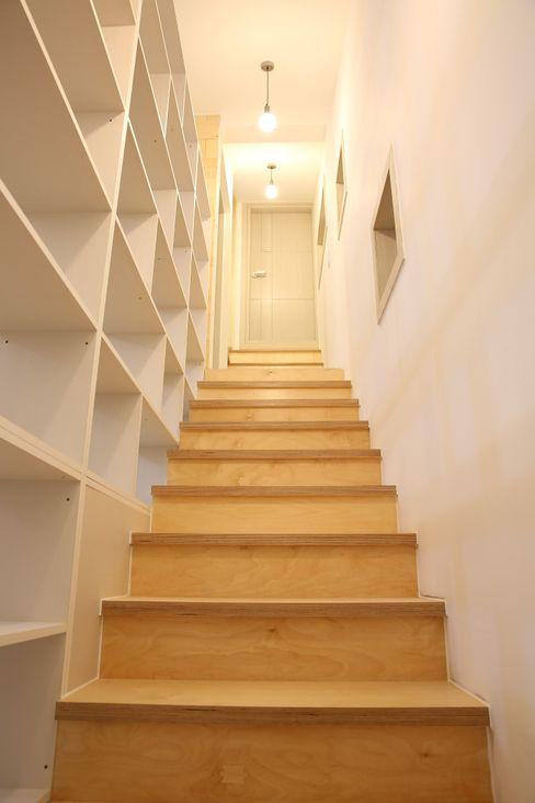 inark [인아크 건축 설계 디자인] Koridor & Tangga Klasik Kayu Amber/Gold