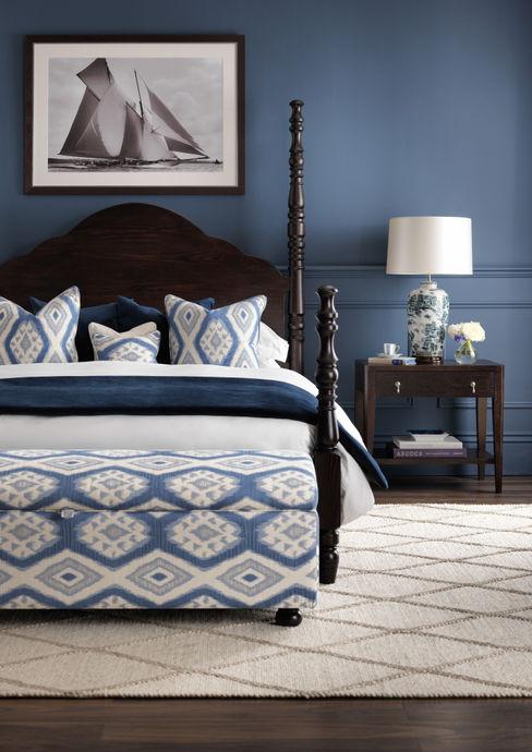 SS16 Style Guide - Coastal Elegance - Bedroom LuxDeco Dormitorios de estilo rural Azul