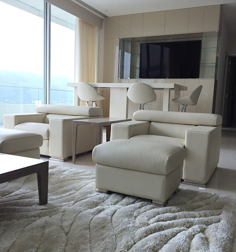 AParquitectos Modern living room Beige