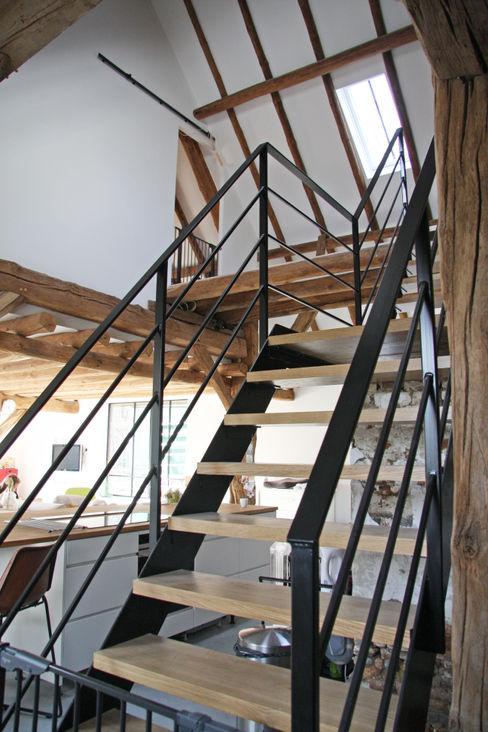 Arend Groenewegen Architect BNA Ingresso, Corridoio & Scale in stile rurale