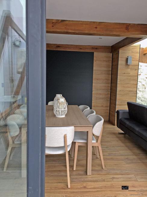 Arquitectura101 + Kably Arquitectos Modern balcony, veranda & terrace