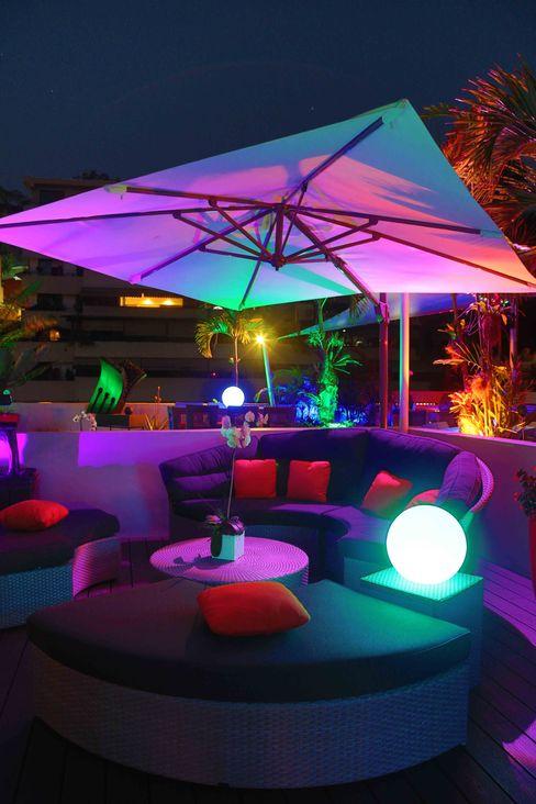Terraza PH El Peñon Objetos DAC Balcones y terrazas de estilo moderno