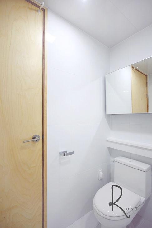 로하디자인 Minimalist bathroom White