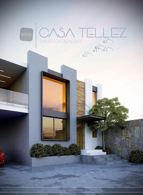 Remodelación/ampliación Besana Studio Casas de estilo minimalista Gris
