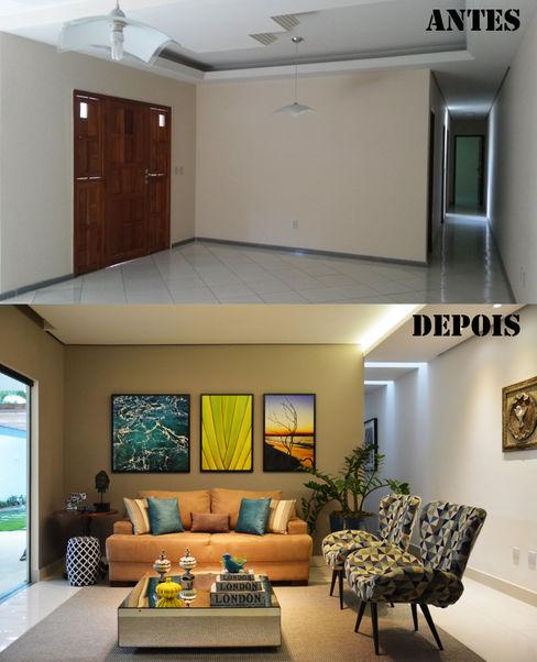 Antes e Depois Sala de Estar CARDOSO CHOUZA ARQUITETOS Salas de estar modernas
