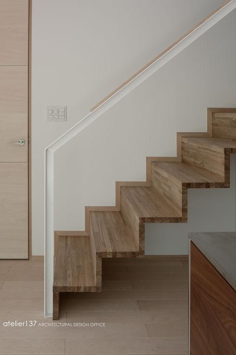 atelier137 ARCHITECTURAL DESIGN OFFICE 斯堪的納維亞風格的走廊,走廊和樓梯