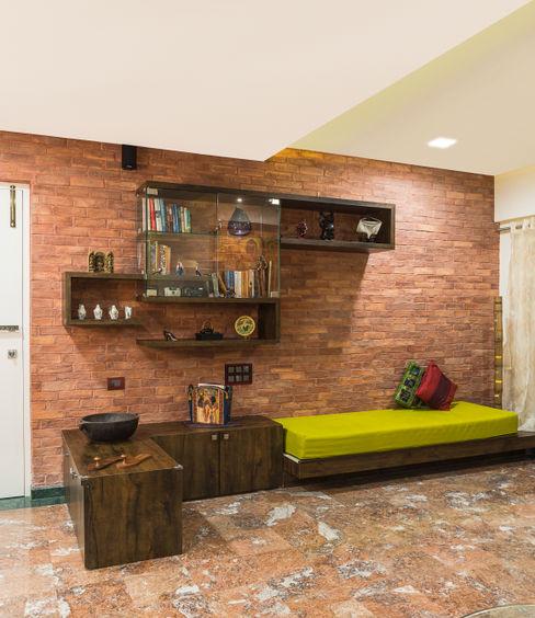 reading area iSTUDIO Architecture Rustic style living room