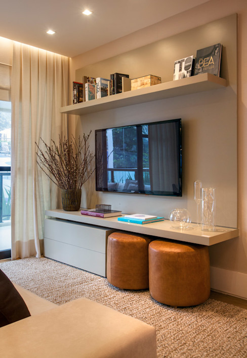 Apartamento decorado RJZ - Gisele Taranto Arquitetura Moderne Wohnzimmer