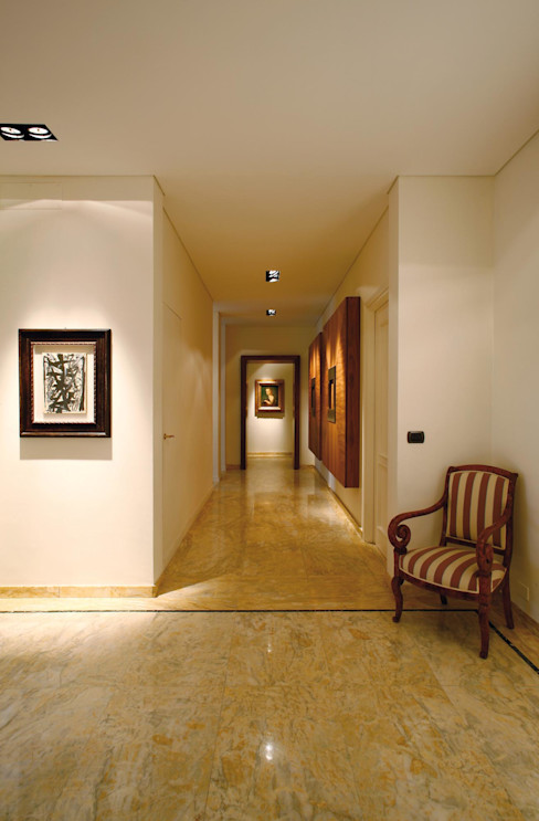 Studio Fabio Fantolino Moderne gangen, hallen & trappenhuizen