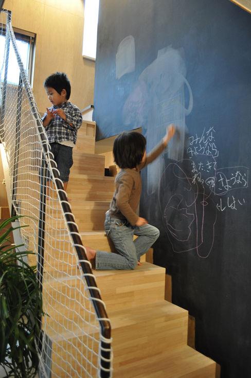巣箱の家 星設計室 モダンスタイルの 玄関&廊下&階段