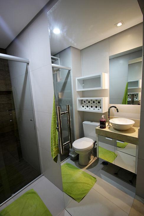 Apartamento AD Tejo Arquitetura & Design Banheiros modernos