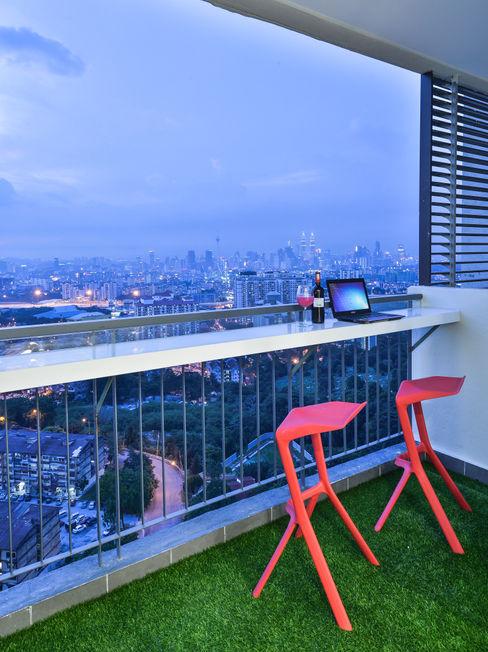 Design Spirits Modern Balkon, Veranda & Teras