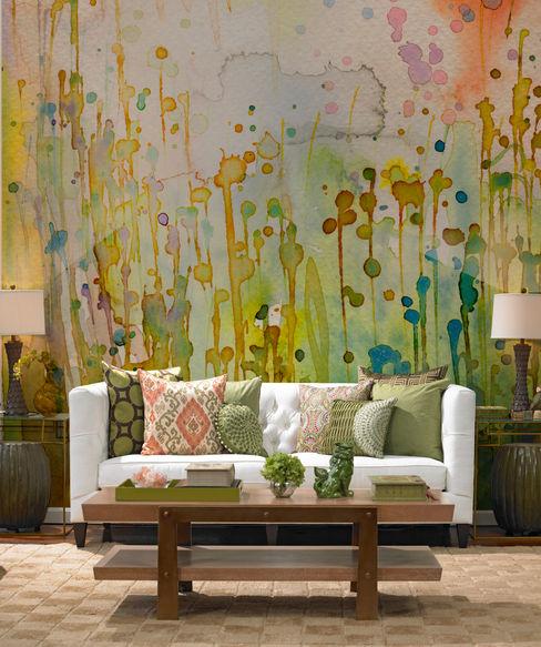 Watercolor Spots Pixers コロニアルデザインの リビング