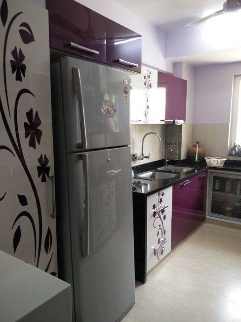 Shape Interiors Cocinas de estilo moderno Contrachapado Morado/Violeta