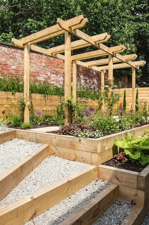 Modern Garden with a rustic twist Yorkshire Gardens Modern Garden