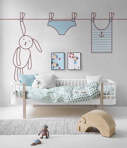 Rabbit and the laundry Pixers Dormitorios infantiles de estilo escandinavo