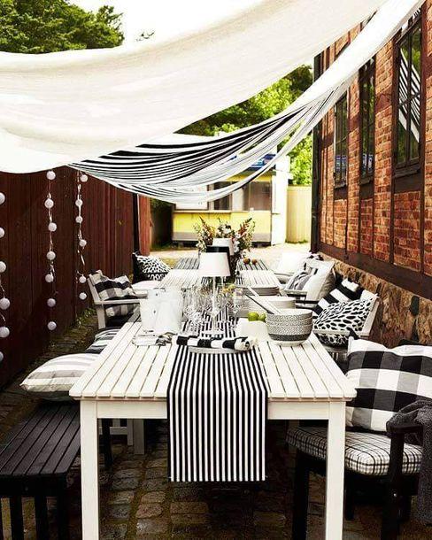 Scenografie estive Design for Love Balcone, Veranda & Terrazza in stile scandinavo