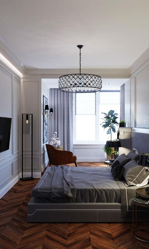Бюро9 - Екатерина Ялалтынова Dormitorios de estilo clásico Marrón