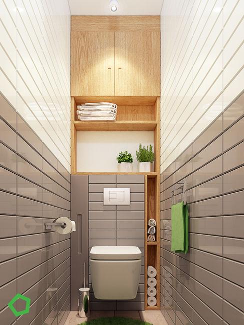 Polygon arch&des Baños de estilo minimalista