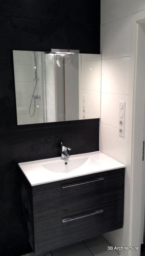 Aménagement de 10 logements 3B Architecture Salle de bain moderne Céramique Noir
