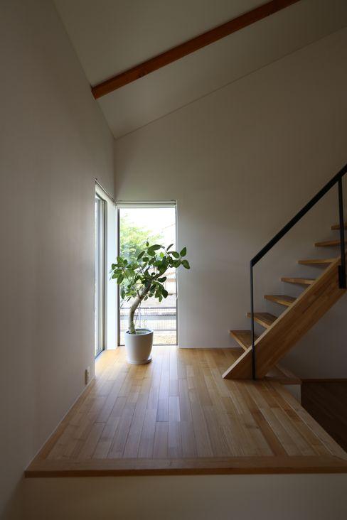 C-design吉内建築アトリエ Scandinavian style corridor, hallway& stairs
