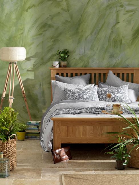 Tiny Stripe Dove Graphite Grey Bedding Set Secret Linen Store 臥室配件與裝飾品 棉 Grey