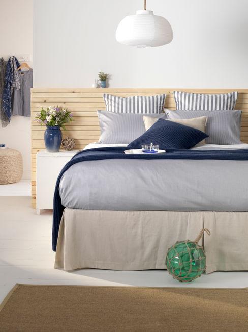 Tiny Stripe Navy Bedding Set Secret Linen Store 臥室配件與裝飾品 棉 Blue
