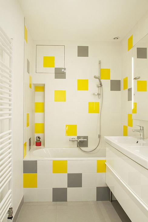 Salle de bain enfant homify Salle de bain moderne Jaune